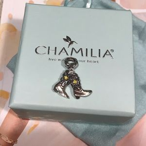 Chamilia Couture Cowgirl Boots Charm